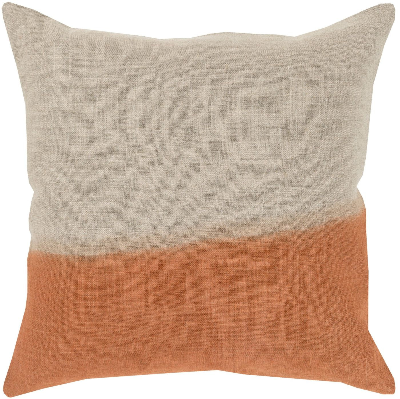 Cute Neutral Throw Pillows : Surya Dip Dyed Throw Pillow Neutral, Orange DD012-2020P. Only $69.60 at Contemporary Furniture ...