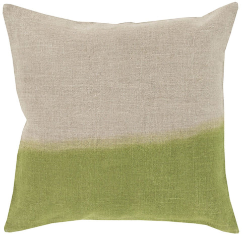 Dip Dyed Throw Pillow Neutral Green