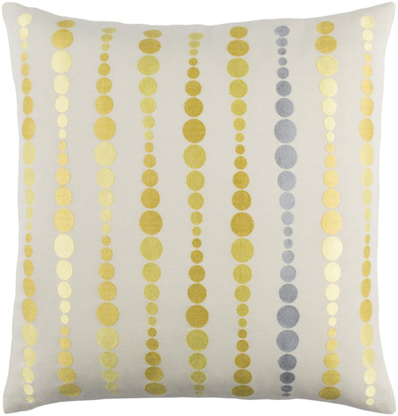 Dewdrop Throw Pillow Yellow