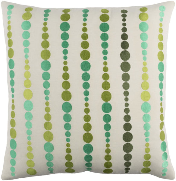 Dewdrop Throw Pillow Green