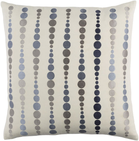 Dewdrop Throw Pillow Blue Gray