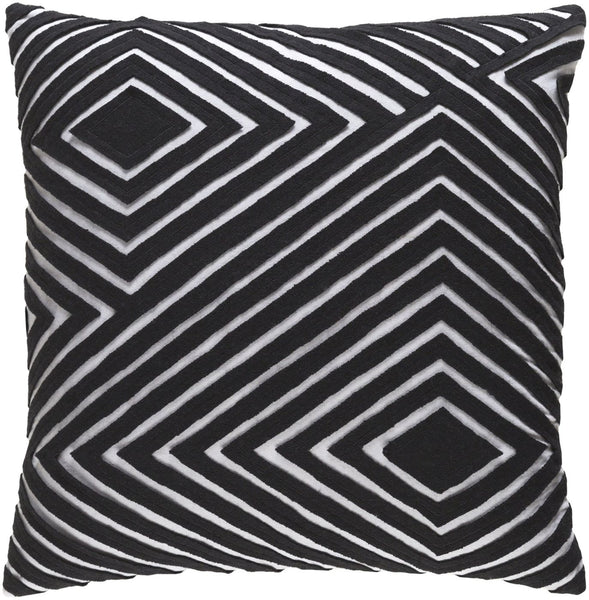 Denmark Throw Pillow Gray Black