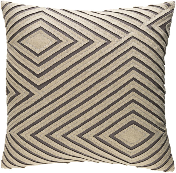 Throw Pillows - Surya DMR003-1818D Denmark Throw Pillow Gray | 888473602194 | Only $61.80. Buy today at http://www.contemporaryfurniturewarehouse.com