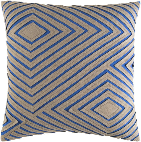 Denmark Throw Pillow Blue Brown