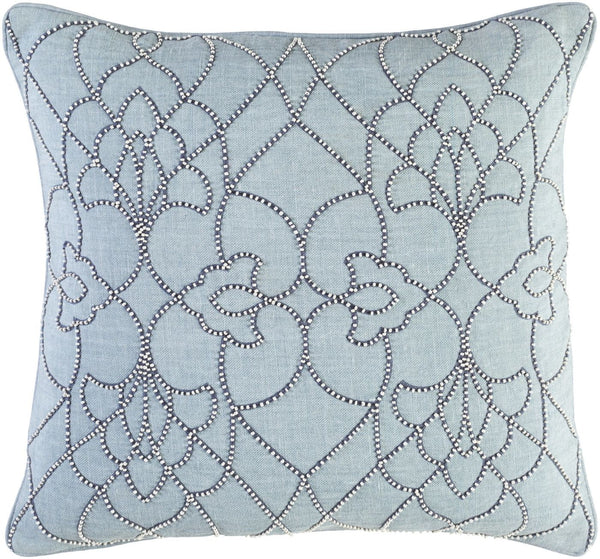 Dotted Pirouette Throw Pillow Blue