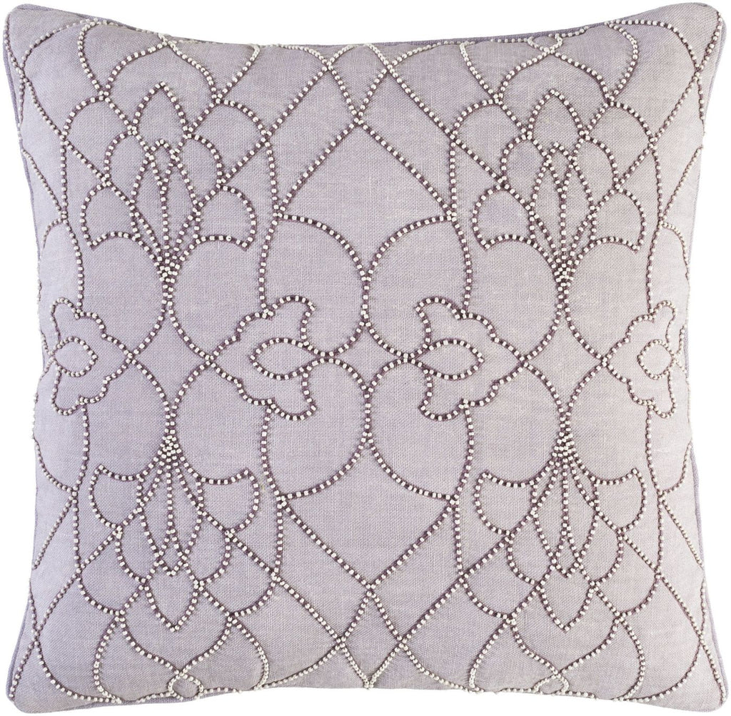 Dotted Pirouette Throw Pillow Purple
