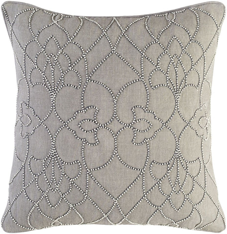 Dotted Pirouette Throw Pillow Gray