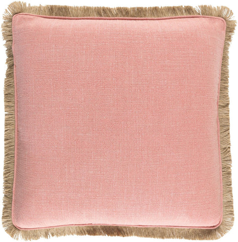 Ellery Throw Pillow Pink Brown