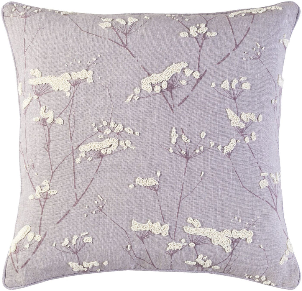 Enchanted Throw Pillow Purple Neutral