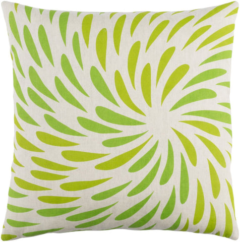 Eye Of The Storm Throw Pillow Green