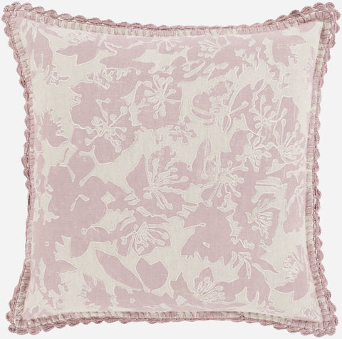 Evelyn Throw Pillow Gray Pink