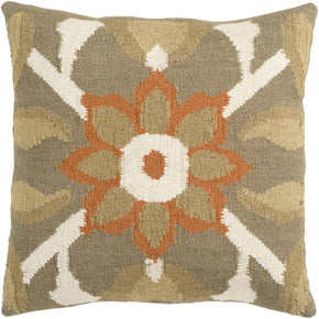 Fallon Throw Pillow Brown Orange