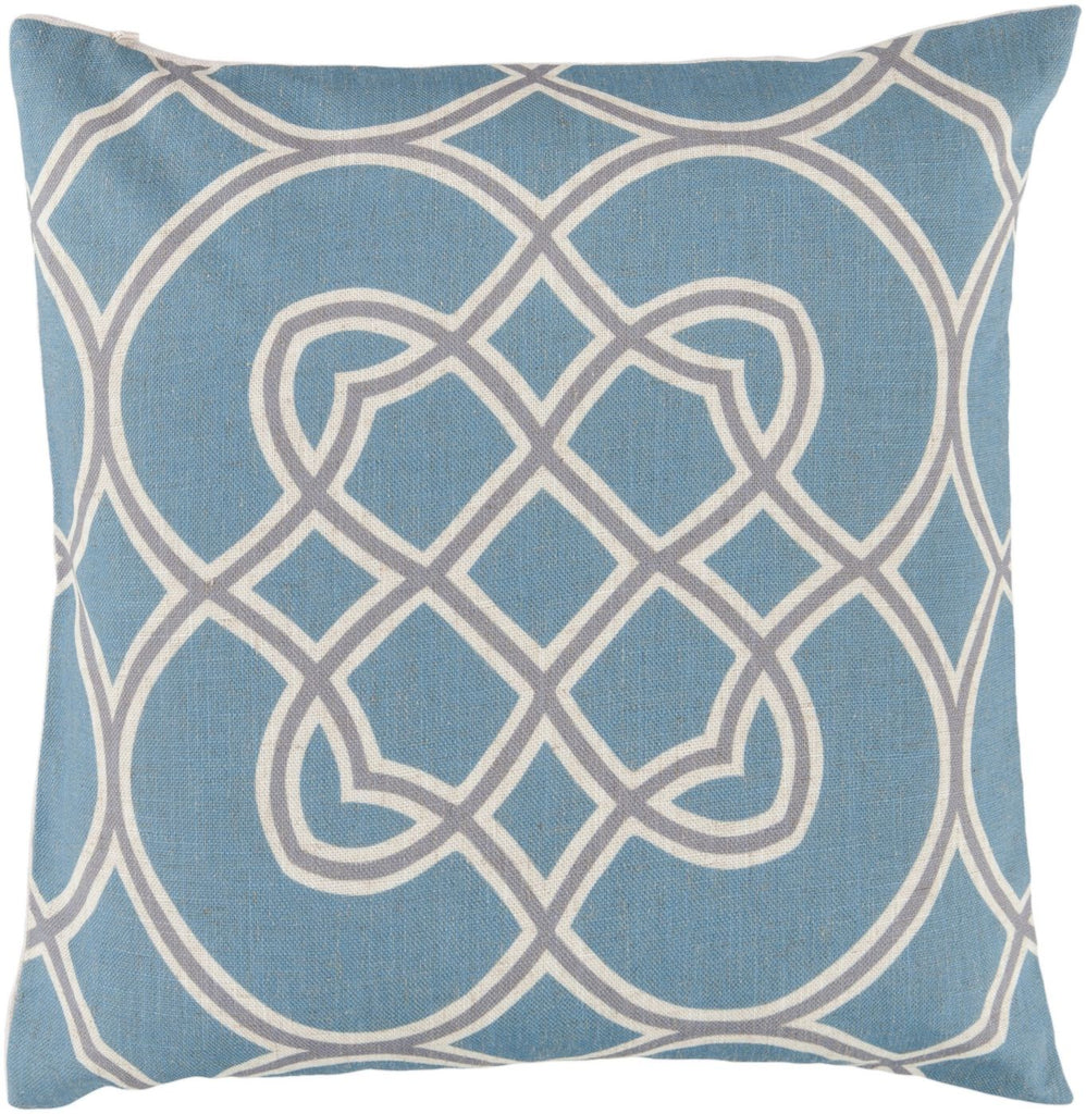 Jorden Throw Pillow Blue Gray