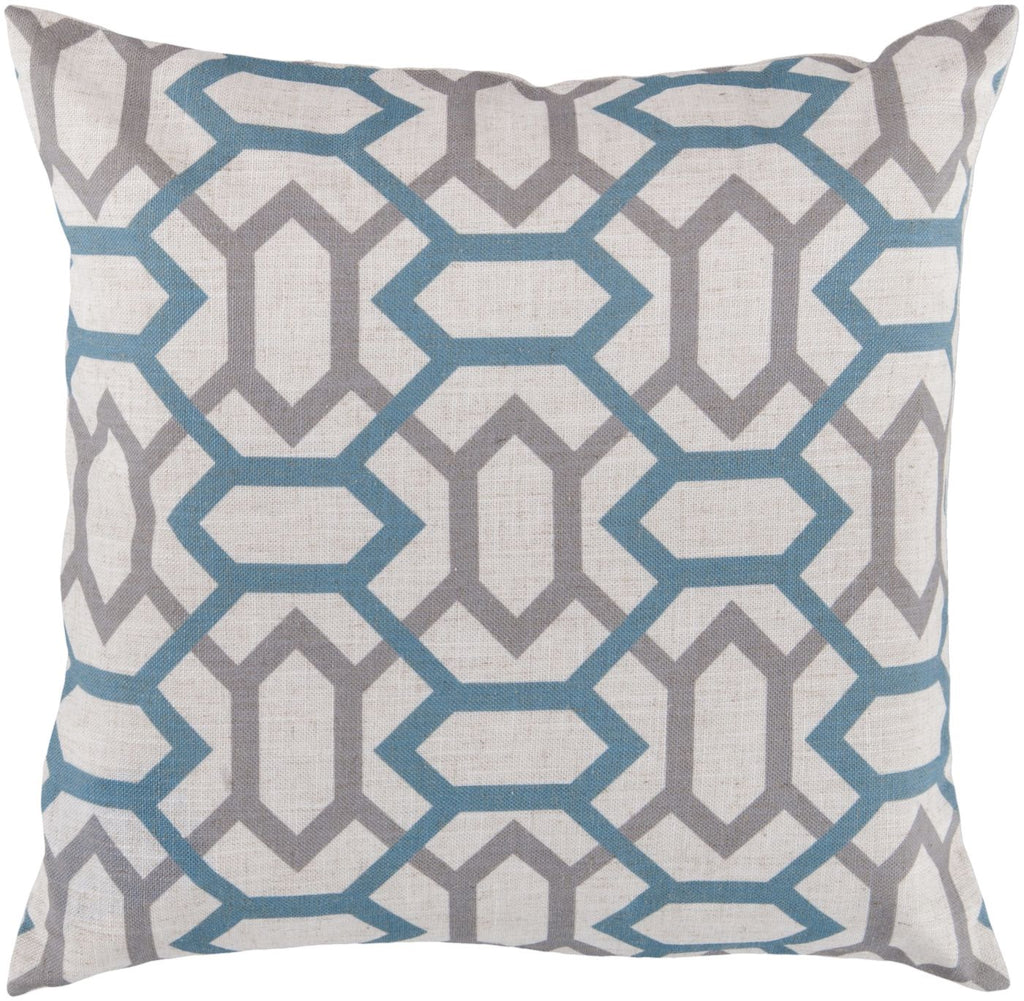 Zoe Throw Pillow Neutral Blue