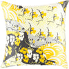 Geisha Throw Pillow Yellow
