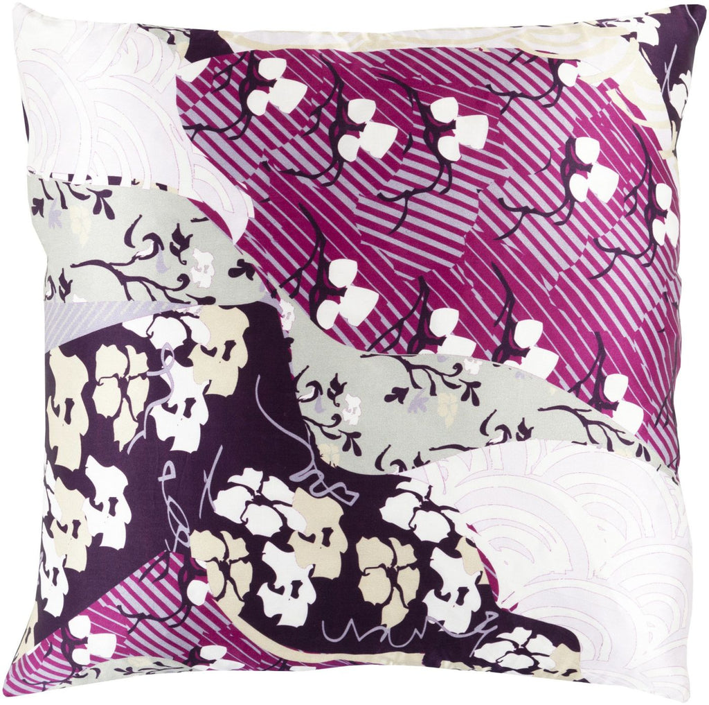 Geisha Throw Pillow Purple