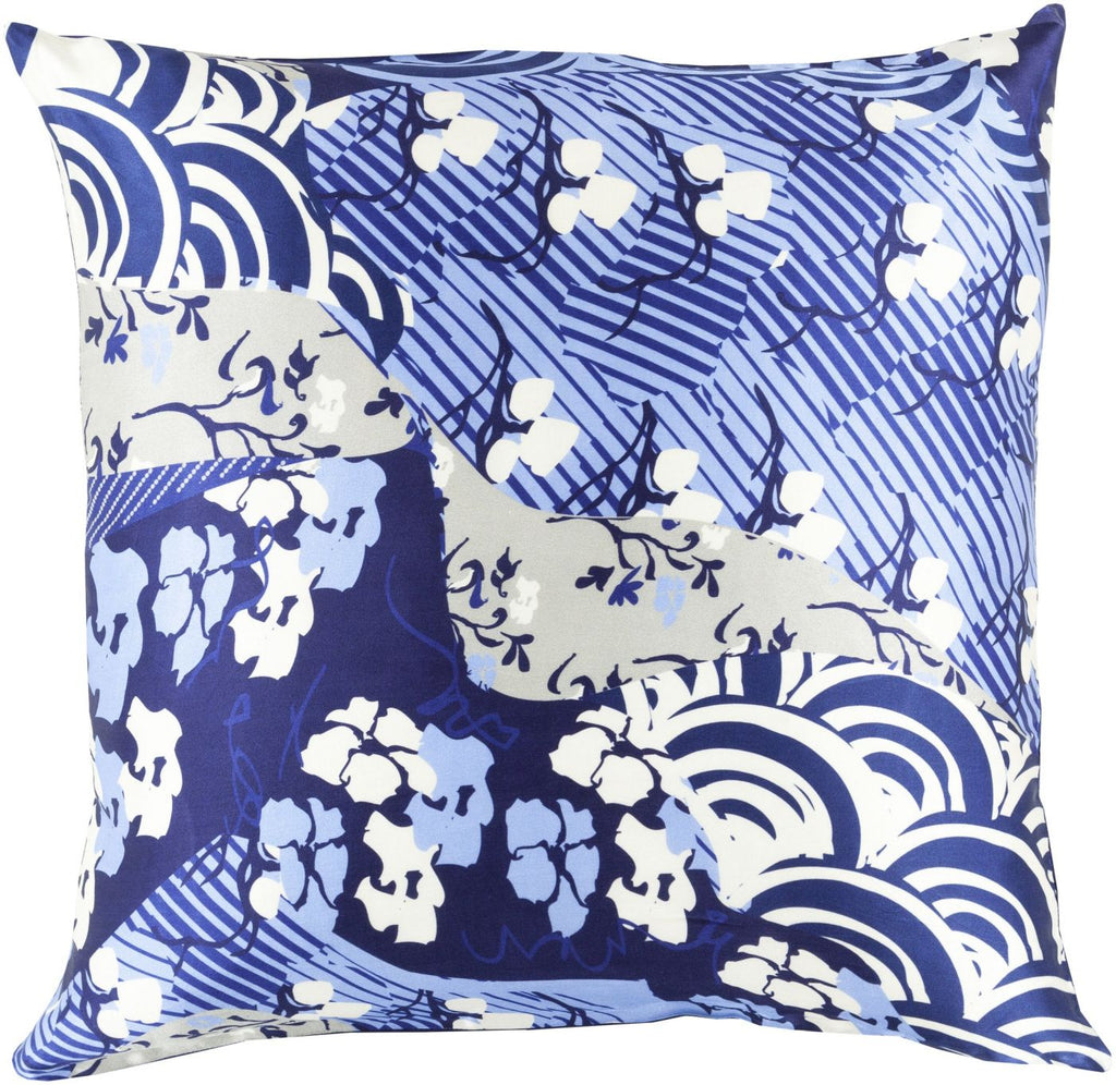 Geisha Throw Pillow Blue