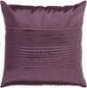 Solid Pleated Throw Pillow Purple