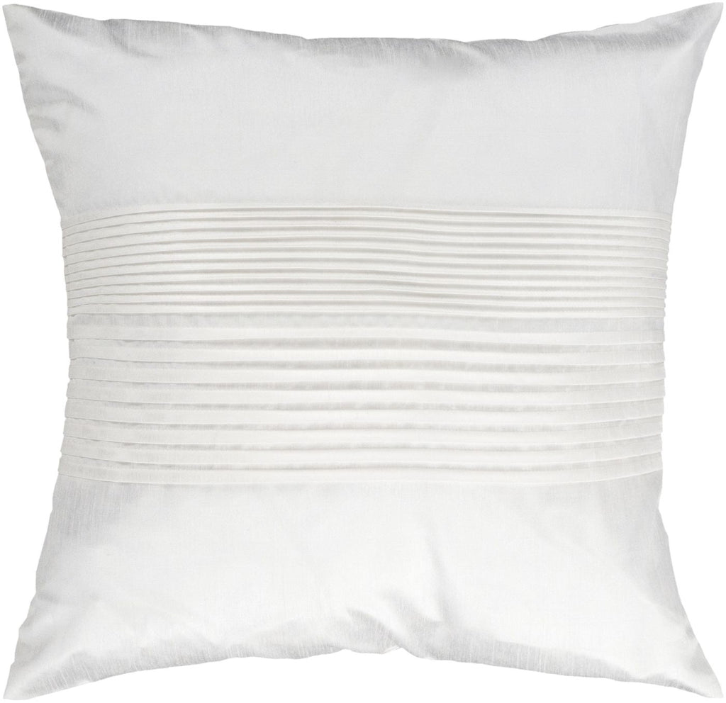 Solid Pleated Throw Pillow Neutral