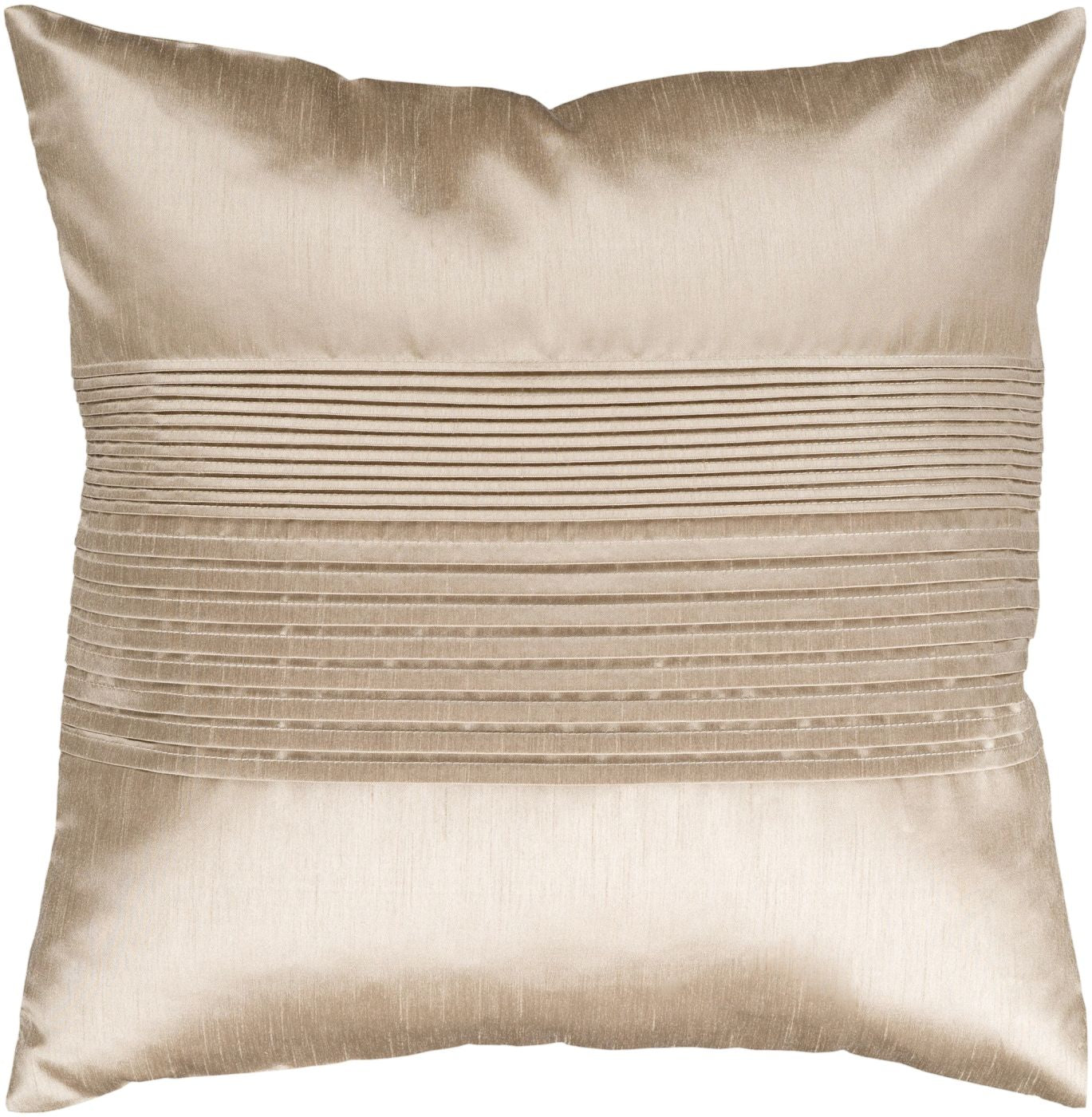 Throw Pillow Warehouse : Surya Solid Pleated Throw Pillow Neutral HH019-1818D. Only $36.00 at Contemporary Furniture ...