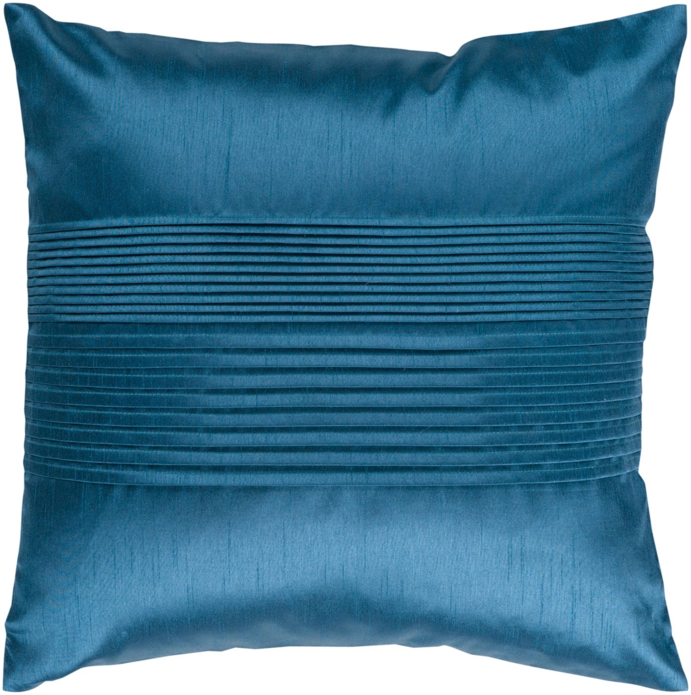 Surya Solid Pleated Throw Pillow Blue HH024-1818P. Only $25.80 at Contemporary Furniture Warehouse.