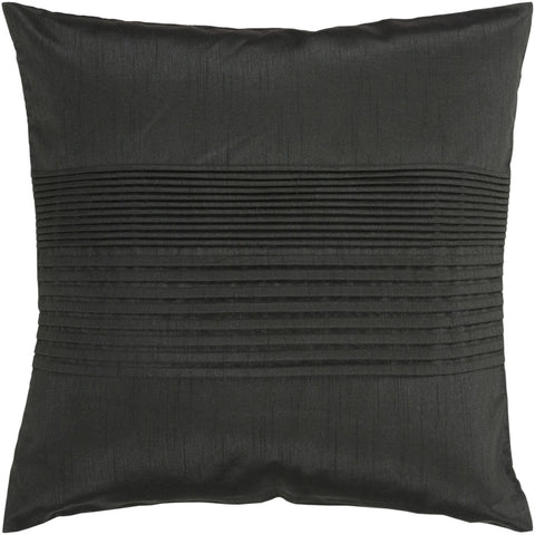 Plain Black Throw Pillow : Surya Solid Pleated Throw Pillow Black HH027-2222D. Only $49.80 at Contemporary Furniture Warehouse.