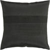 Solid Pleated Throw Pillow Black