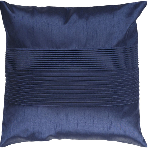 Solid Pleated Throw Pillow Blue