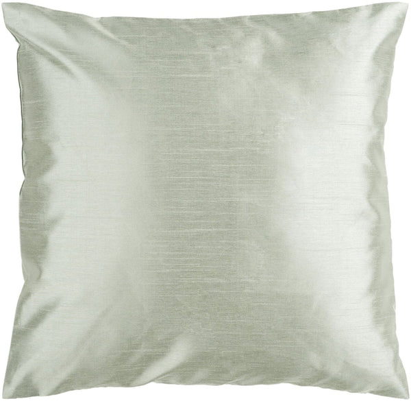 Solid Luxe Throw Pillow Green