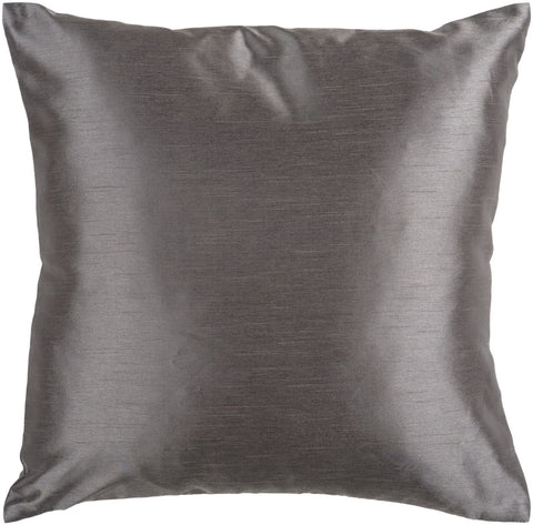 Solid Luxe Throw Pillow Gray