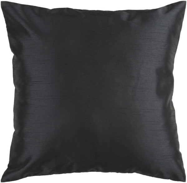 Throw Pillows - Surya HH037-1818D Solid Luxe Throw Pillow Black | 764262449303 | Only $35.00. Buy today at http://www.contemporaryfurniturewarehouse.com