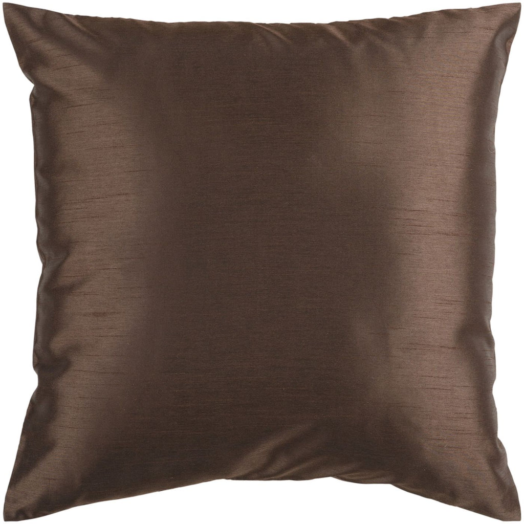 Throw Pillows - Surya HH040-1818D Solid Luxe Throw Pillow Brown | 764262449334 | Only $27.60. Buy today at http://www.contemporaryfurniturewarehouse.com