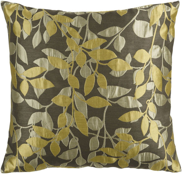 Wind Chime Throw Pillow Brown Green