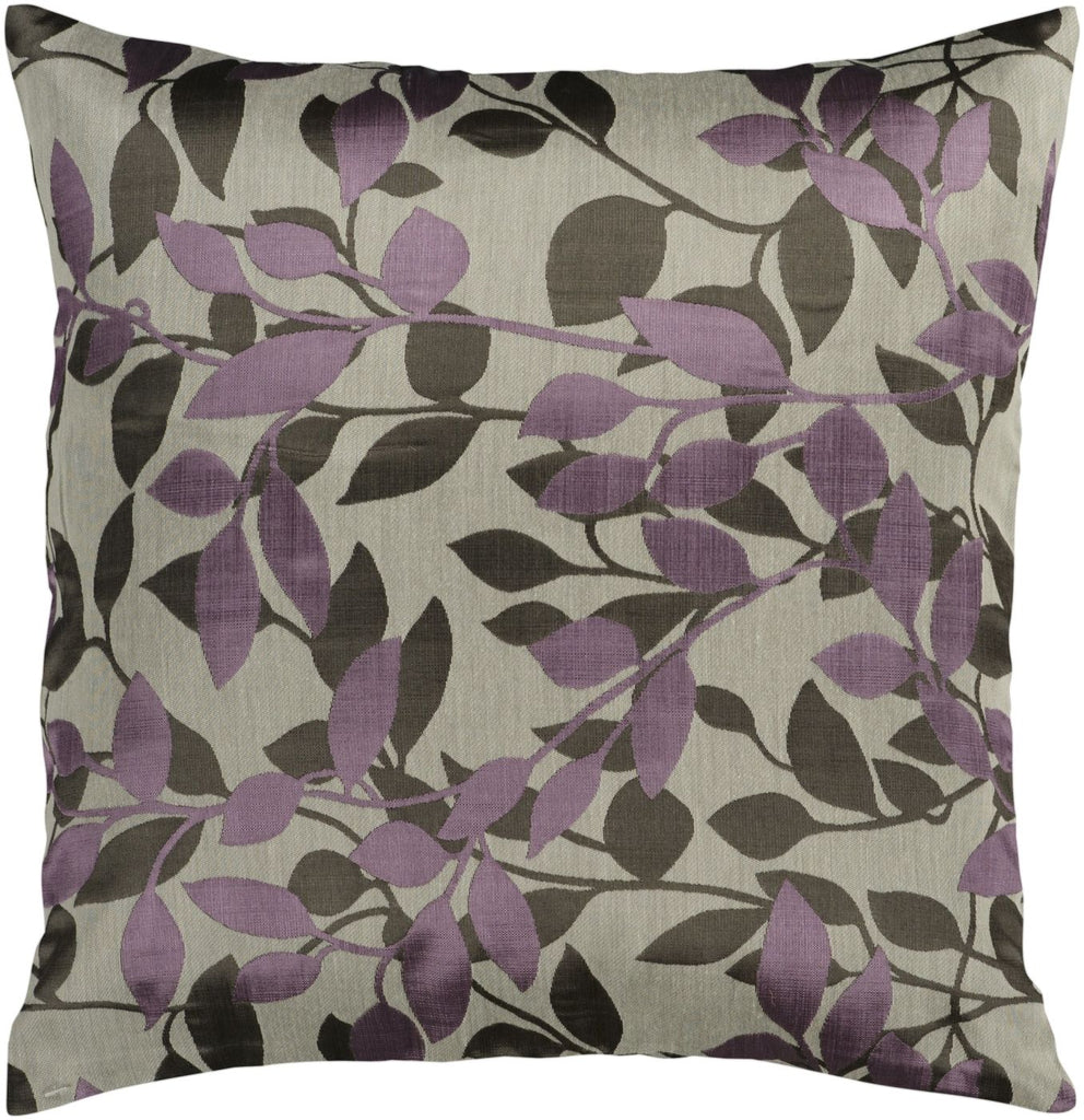 Wind Chime Throw Pillow Neutral Purple