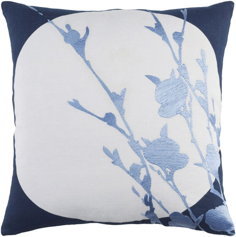 Harvest Moon Throw Pillow Blue