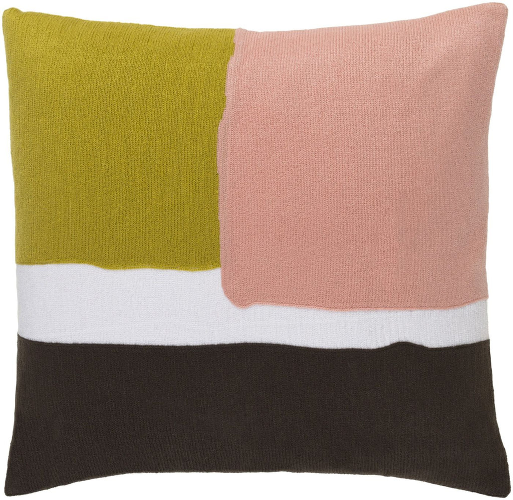Harvey Throw Pillow Green Pink
