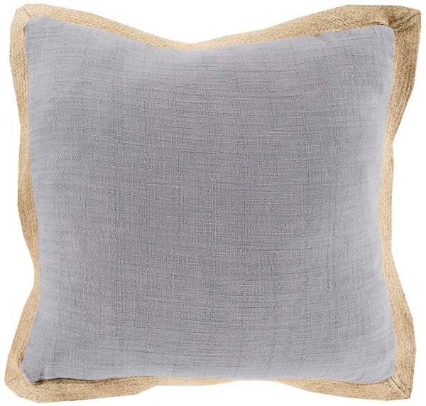 Jute Flange Throw Pillow Gray Brown