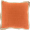 Jute Flange Throw Pillow Orange Brown