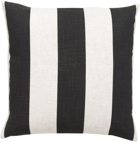 Simple Stripe Throw Pillow Black Neutral