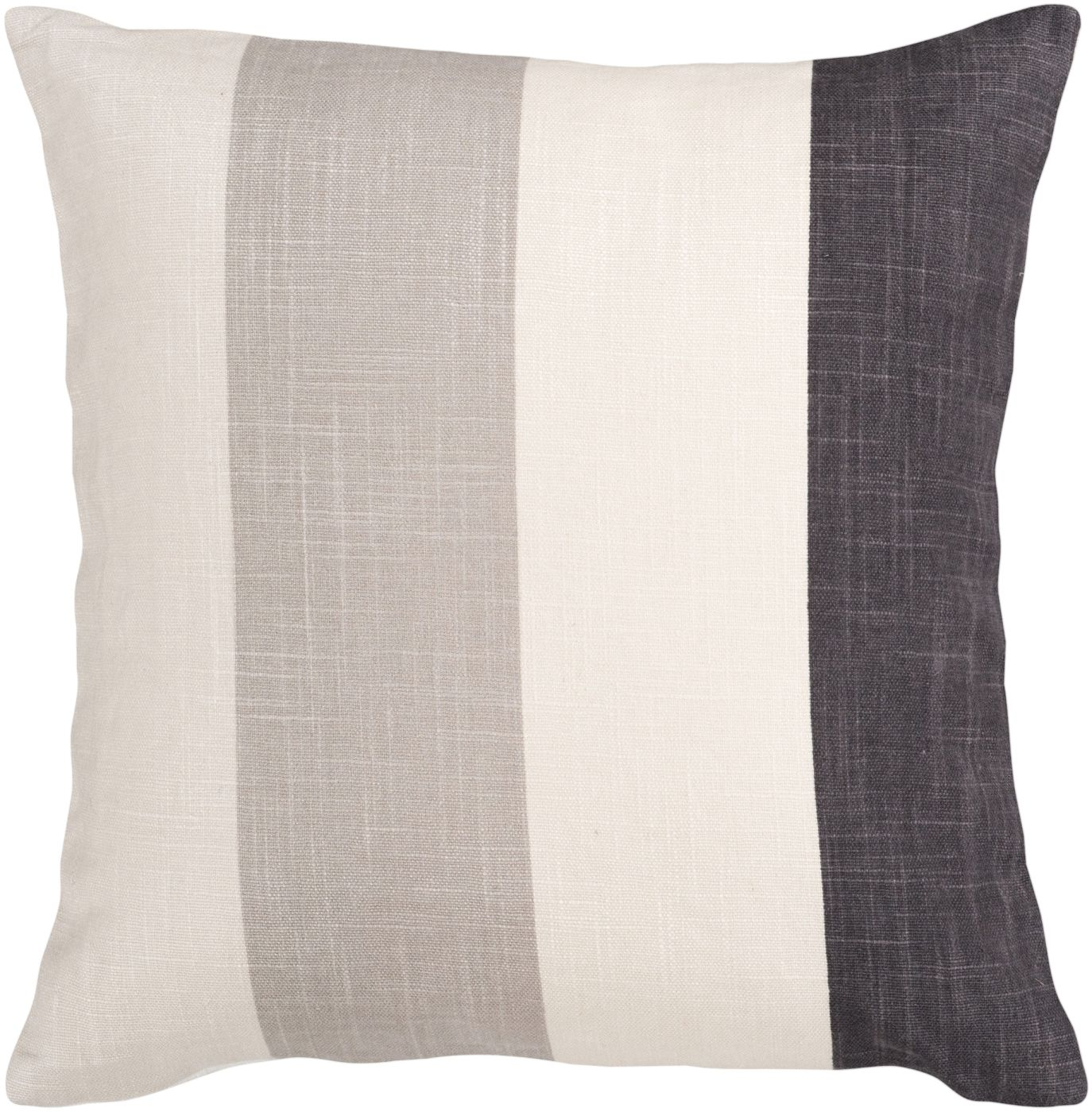 Surya Simple Stripe Throw Pillow Neutral, Black JS011-1818D. Only $45.60 at Contemporary ...