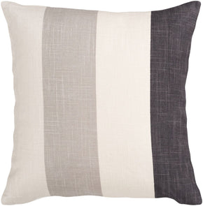 Throw Pillows - Surya JS011-1818D Simple Stripe Throw Pillow Neutral, Black | 764262450071 | Only $36.00. Buy today at http://www.contemporaryfurniturewarehouse.com