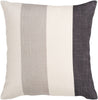 Throw Pillows - Surya JS011-1818D Simple Stripe Throw Pillow Neutral, Black | 764262450071 | Only $45.60. Buy today at http://www.contemporaryfurniturewarehouse.com