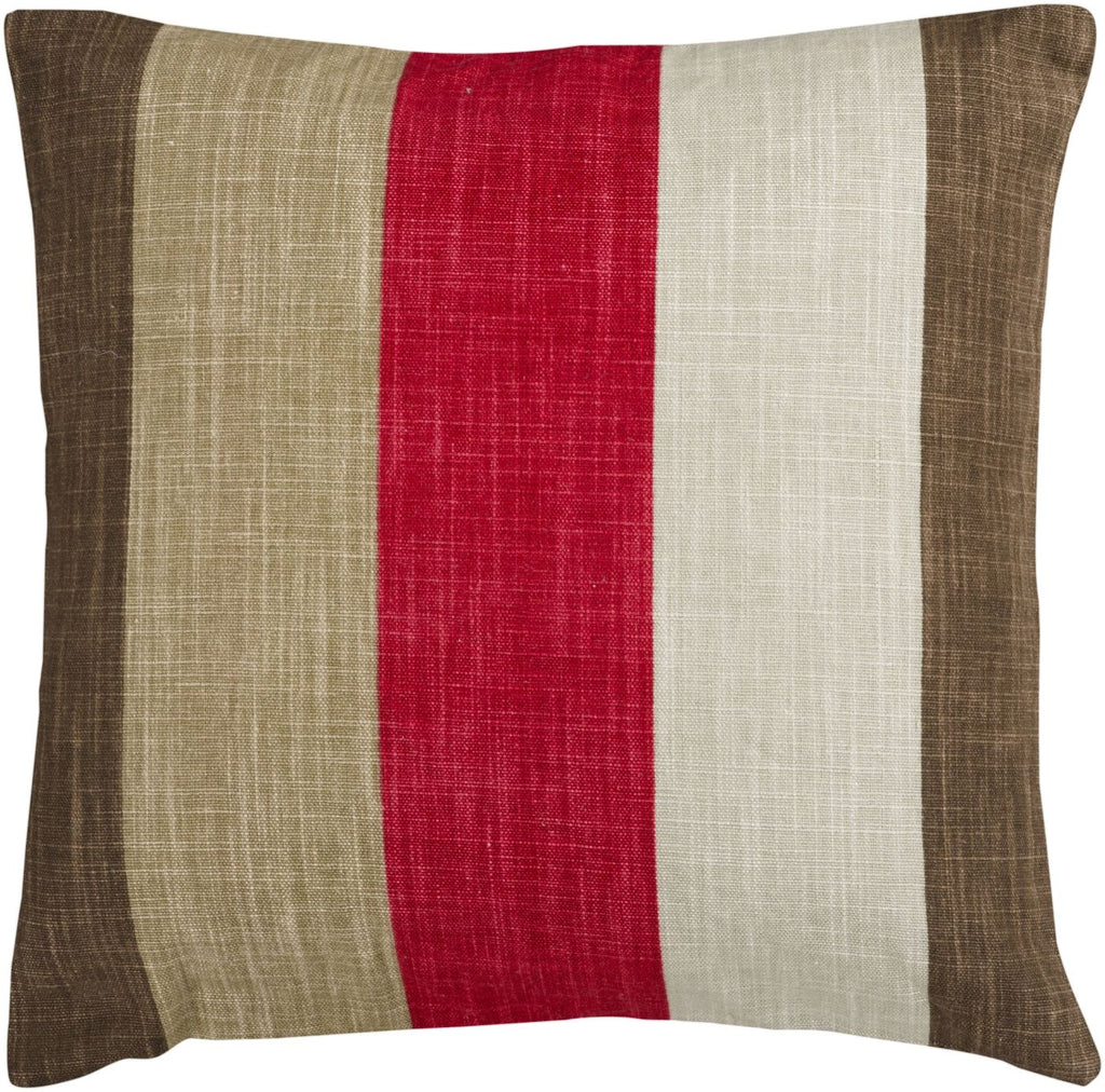Simple Stripe Throw Pillow Neutral Brown