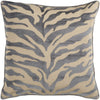 Velvet Zebra Throw Pillow Brown Gray