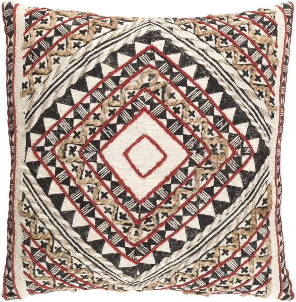 Kazinga Throw Pillow Red Brown