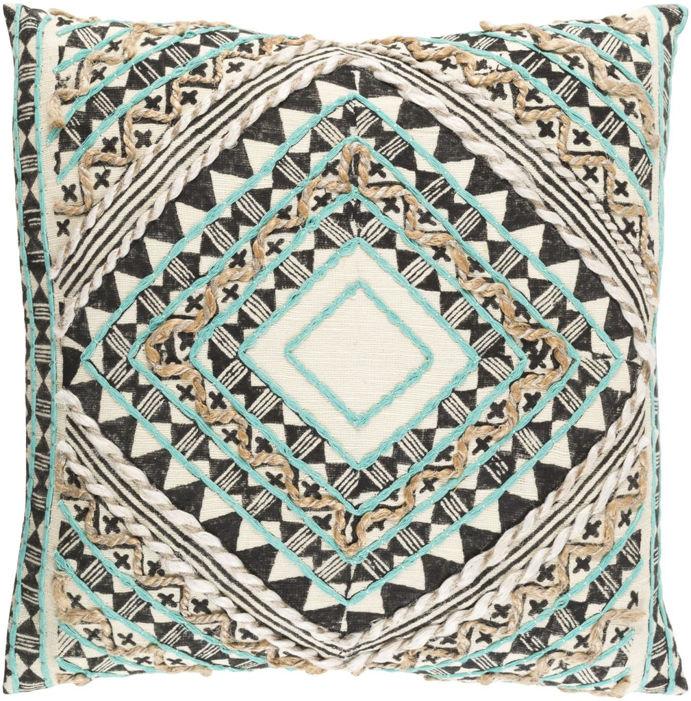 Kazinga Throw Pillow Green Brown