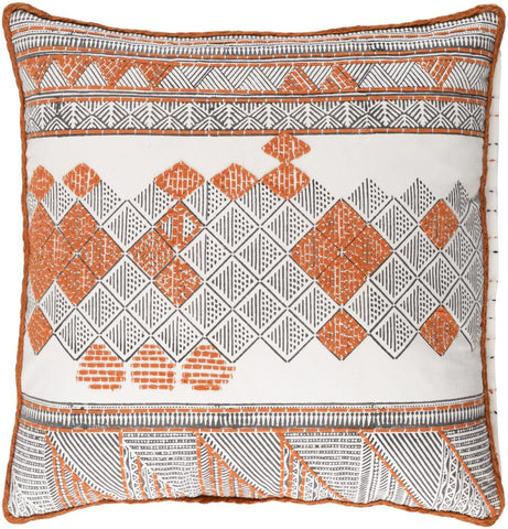 Kerio Throw Pillow Orange Brown