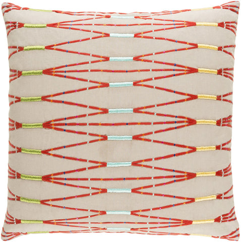 Kikuyu Throw Pillow Brown Orange