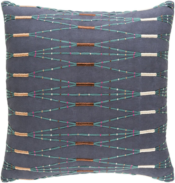Kikuyu Throw Pillow Blue Green