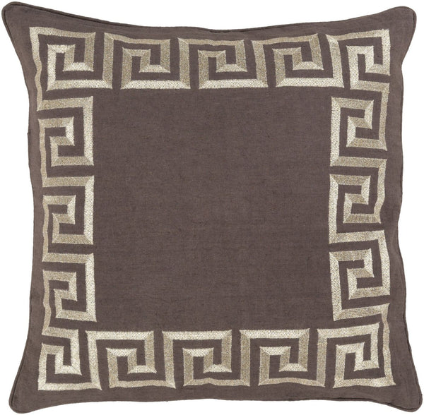 Key Throw Pillow Brown